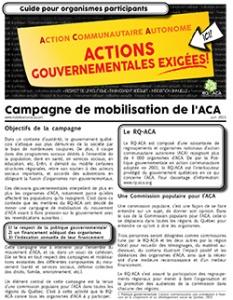 Campagne de mobilisation de l'ACA - Guides pour organismes participants-Vignette