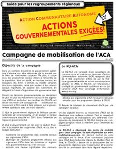 Campagne de mobilisation de l'ACA - Guides pour regroupements régionaux-Vignette