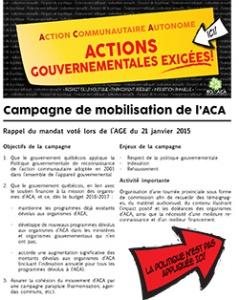 Campagne de mobilisation de l'ACA - Plan de campagne-Vignette